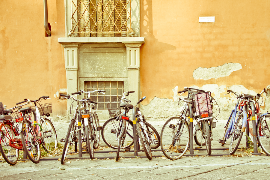 Colorful Bicycles in Florence