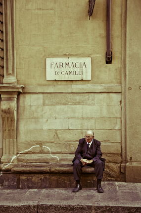 Man Sitting in Florence