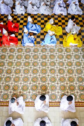 Vietnamese Cao Dai Monks