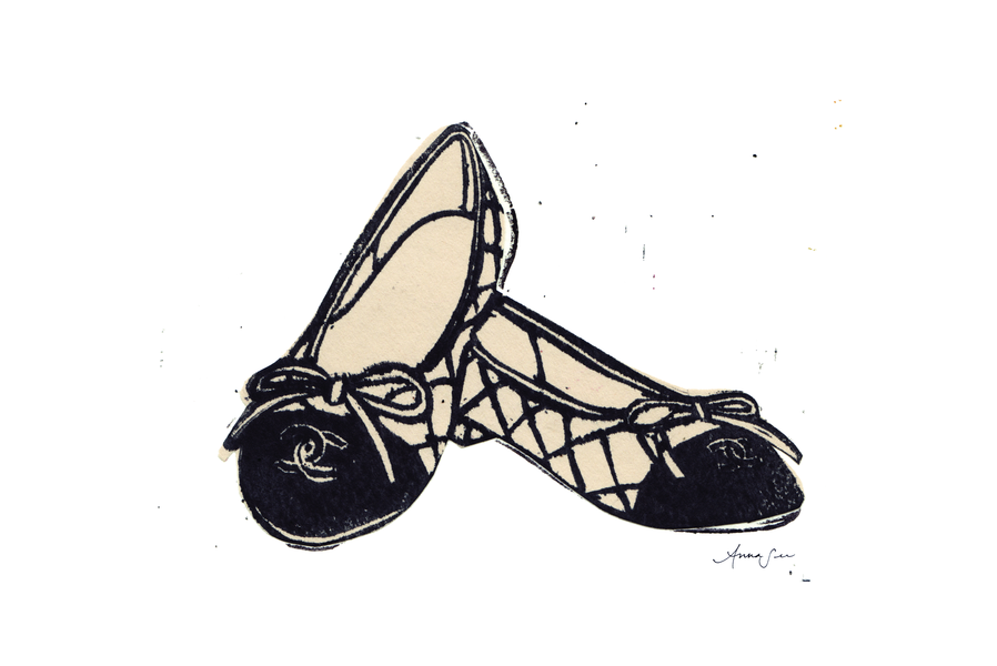 Chanel Ballet Flats By Anna See Artfully Walls