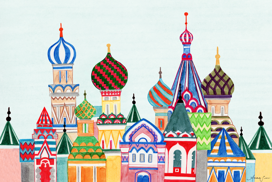 Russian Architecture Cathedral Red Square Buildings Middle East Arabian Palaces