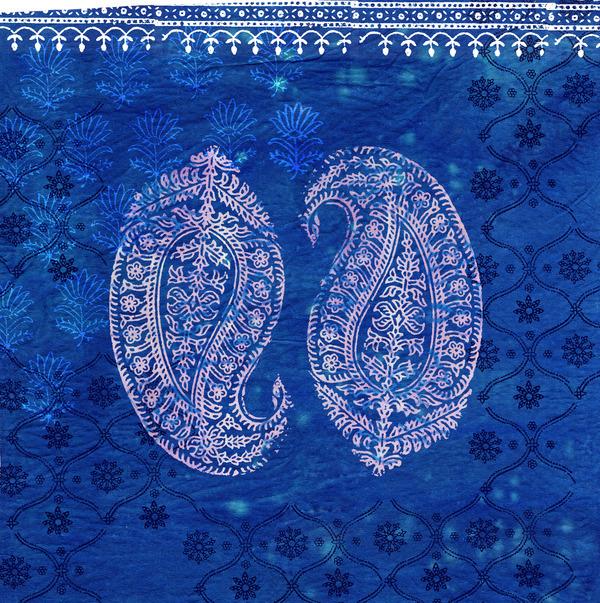 Paisley on Blue