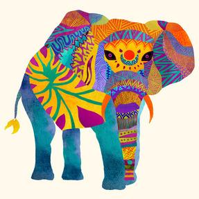 Whimsical Elephant II