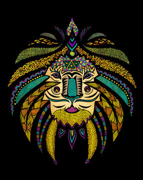 Emperor Tribal Lion Black