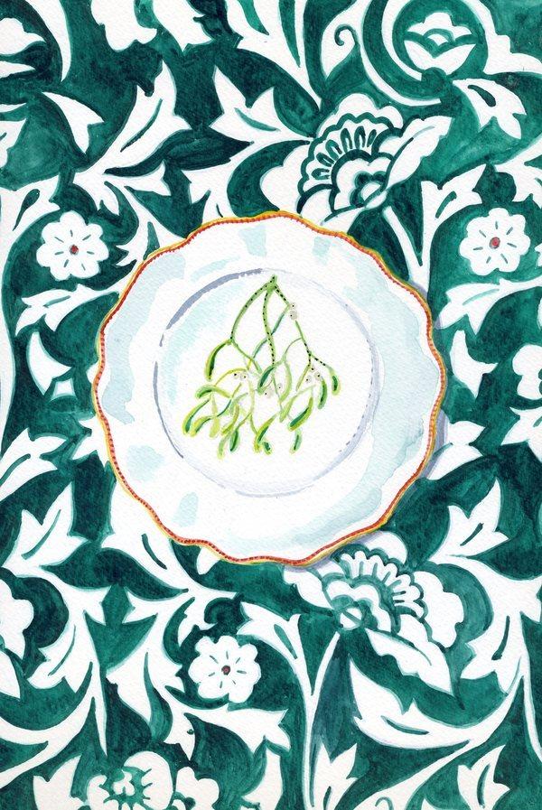 Misteltoe Plate