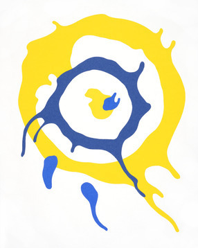 Spin Art (Yellow & Blue)