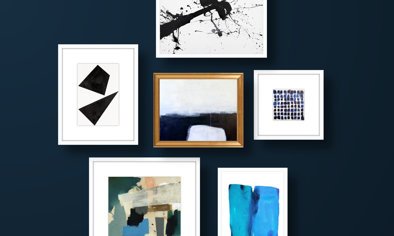 Black And Blue Abstraction