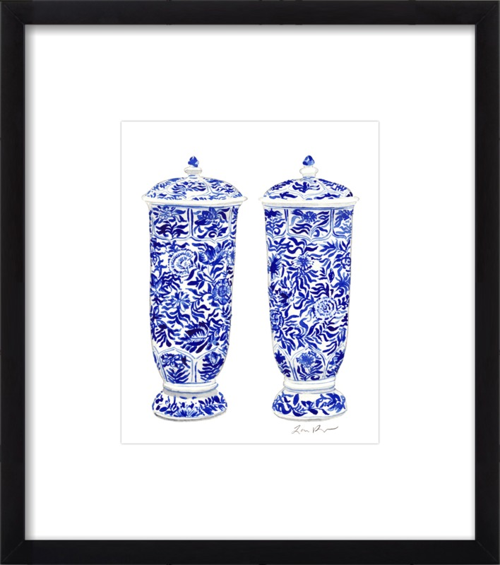 9f0a79ab8e0 More of Laura Row s work. Blue and White China Ginger Jar Vase ...