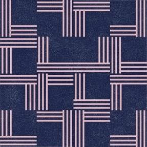 Inside Voice / Outside Voice: Midnight Blue With Dusty Pink Lines