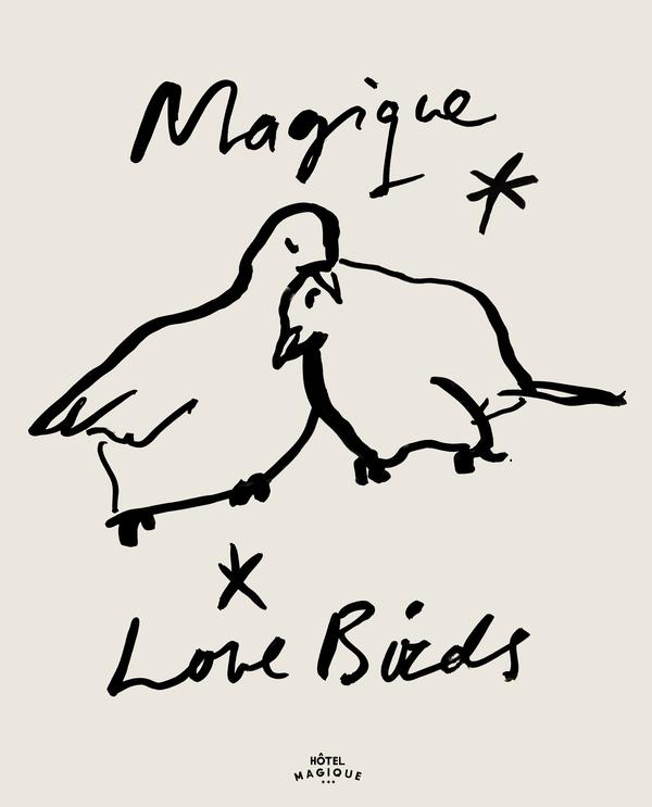 Magique Love Birds By Milou Neelen Artfully Walls