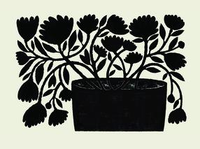 Flowing Black Floral