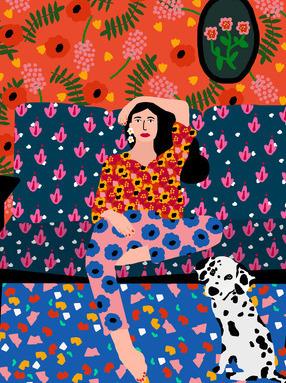 Girl In The Sofa