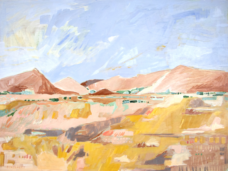 Golden Desert Fields