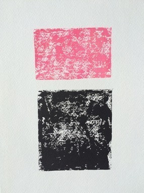 Pink and Black Modern Abstract Squares
