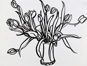 Tulips in Lesterware