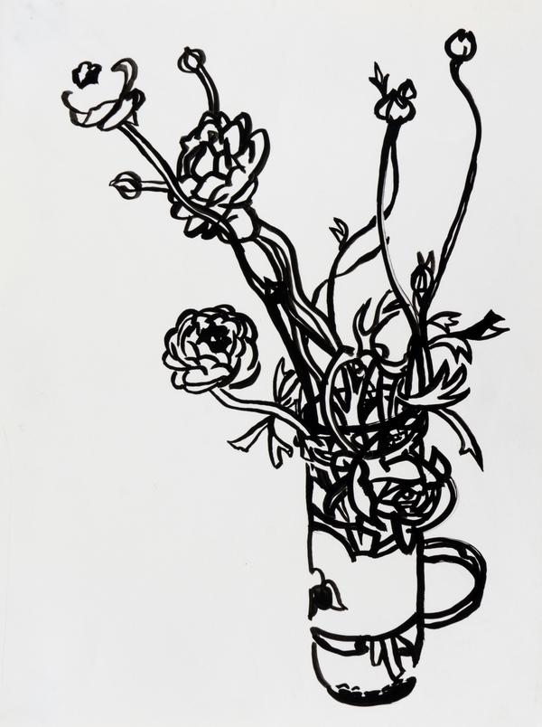 Flowers in a Salsa Jar