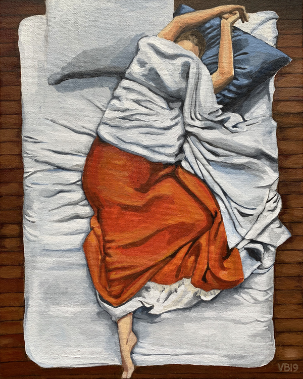 Shop Helen on the Air Mattress by Victoria Bradley from Artfully Walls on Openhaus