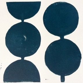 Modern Circles in Midnight Blue