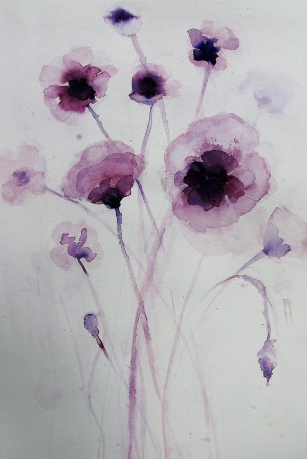 purple poppies by ruti shaashua artfully walls