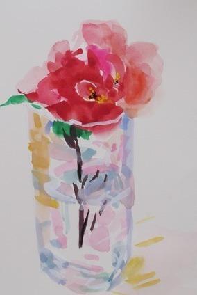 Red Camellia I