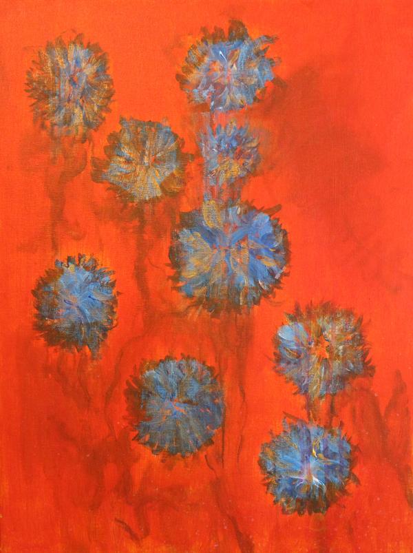Tangerine Blue-Bloom Garden