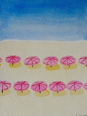 Flamingo Umbrellas (Beach Umbrella Series)