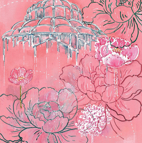 Delicate Florals on Pink