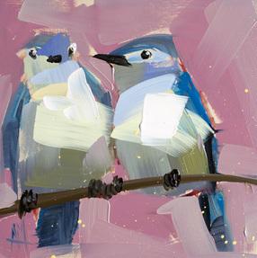 Two Mountain Bluebirds no. 8