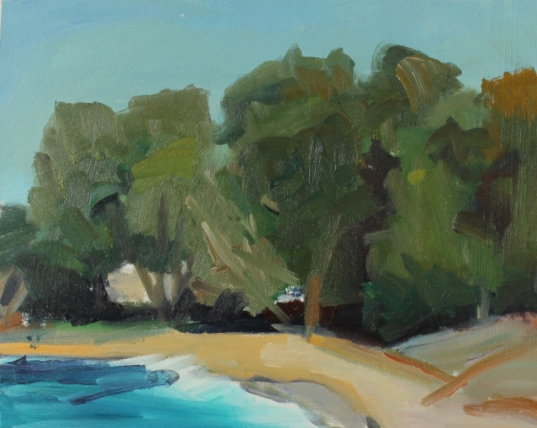 California Coast, Trees and Beach