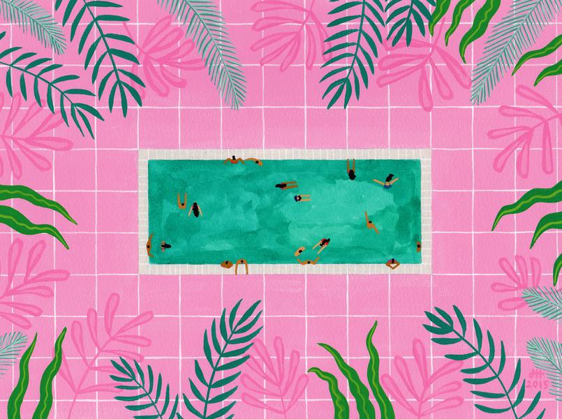 Pink Riad Pool