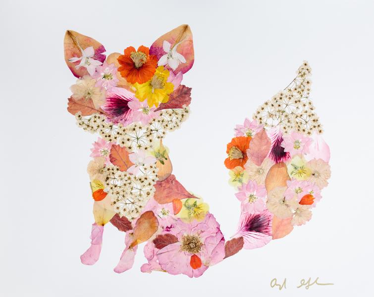 Pressed Flower Fox by Ayla Graham | Artfully Walls
