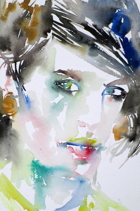 LOOKING WOMAN
