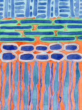 Blue Shapes Pattern
