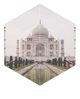Taj Mahal - Geometric Photography