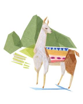 Linda Llama + Machu Picchu