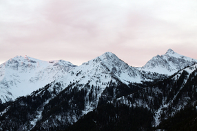 Pink Sky and Mountains in the morning