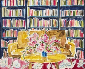 Library with Flowers