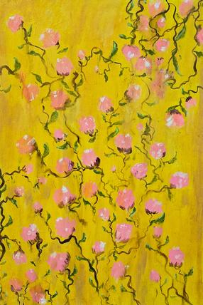 Yellow Pink Garden
